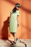 OBLIQUE šaty svetlozelené